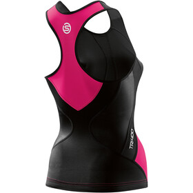 Skins TRI400 Racer Back Tri Top Women black/pink